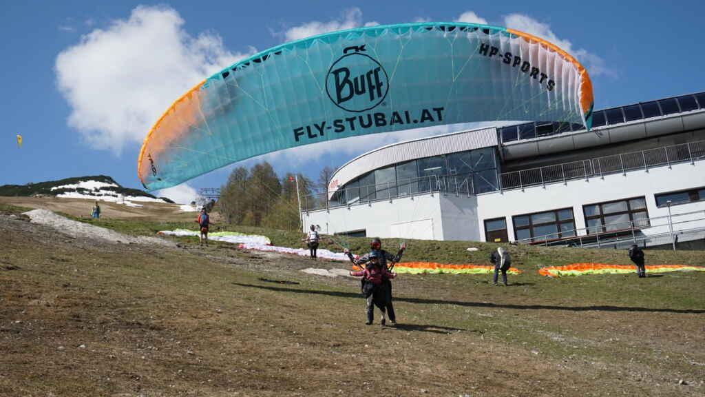 Tandemflug Stubaital mit Fly-Stubai Startphase