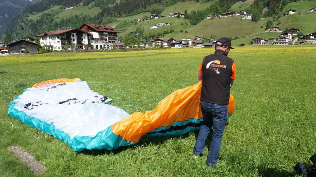 Gleitschirm Tandemflug Stubaital mit Fly-Stubai