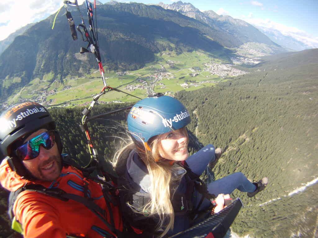 Tandem Paragliding Tirol mit Fly-Stubai im Stubaital