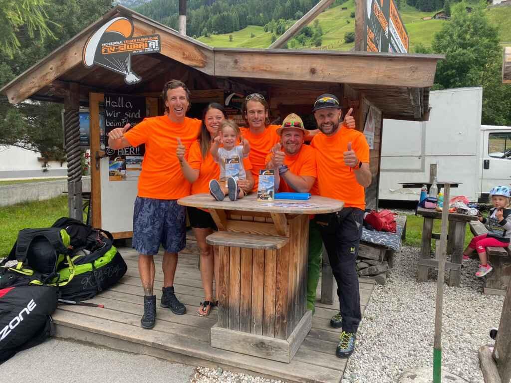 Team von Fly Stubai Paragliding Stubaital